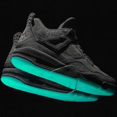 """KAWS x Air Jordan 4 """"Black"""" Could Be Releasing on Cyber Monday: Make sure to save some cash after Black Friday. Air Jordans, Blue Jordans, Shoes Jordans, Zapatos Air Jordan, Air Jordan Shoes, Best Sneakers, Sneakers Nike, Retro Sneakers, New Shoes"""