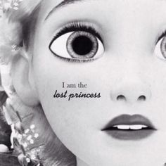 Lost princess with golden hair, and bright green eyes...