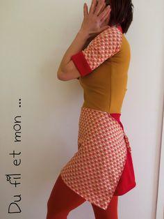 Du fil et mon... Robe tablier - Apron Dress
