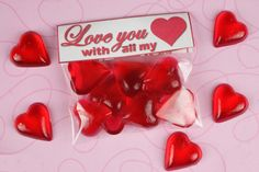 heart shaped luggage | Valentine's Day heart shaped candy