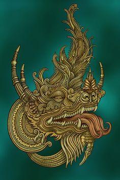 Thai Dragon on Behance by Leone