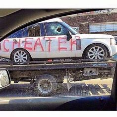Owner of this Range Rover White Sport was found cheating on his wife.Look at what the wife did on the car.