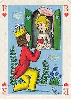 jeu de cartes illustré par Peynet