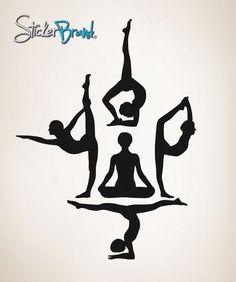 Vinyl Wall Decal Sticker Yoga Silhouette item by Stickerbrand, $29.95