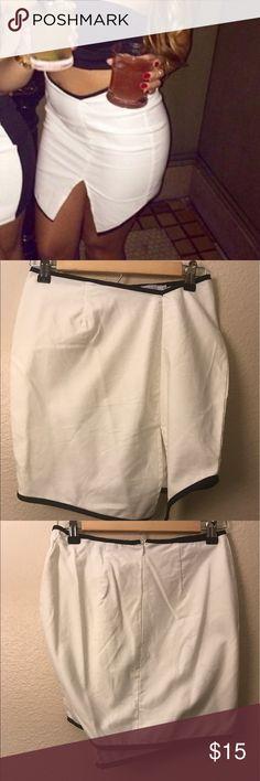 Skirt White Tobi mini skirt Tobi Skirts Mini