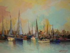 "Saatchi Art Artist Andres Vivo; Painting, ""3942  Masts and sails"" #art"