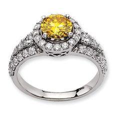 14kw Emma Grace Round Cultured Diamond Ring - SalmaJewelry.com  $8,580.32