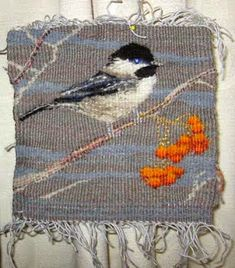 Ruth's weaving projects: 3D tapestry bird