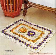 tapetes em croche fios barroco da circulo em croche com receita