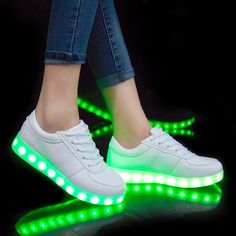 Nice // USB illuminated krasovki luminous sneakers glowing kids shoes children with sole led light up sneakers for girls&boys - $ - Buy it Now!