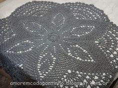 Tapete em crochê, tapete redondo de crochê, toalha redonda de crochê