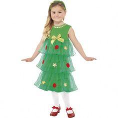 disfraz de rbol de navidad para nia
