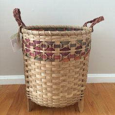 Yarn Basket Knitting Crochet storage by BasketWeavingSupplie