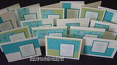 One Sheet Wonder All Occasion Cards   Make 16 cards in an hour using this One Sheet Wonder technique.
