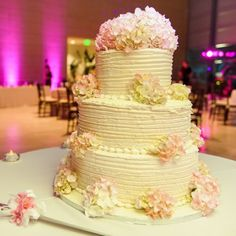 Real Weddings - In Bliss Weddings  The cake was a three-tier marble and carrot cake decorated with light pink hydrangeas. Image credit: Andi Diamond Photography - See more at: http://inblissweddings.com/real-weddings/story/heather_and_steve/222#sthash.tisjIRAY.dpuf
