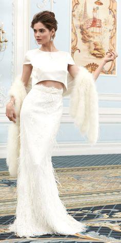 Sassi Holford Two-Piece Couture Wedding Dress 2015 Wedding Dresses, Wedding Dresses Plus Size, Bridal Dresses, Wedding Gowns, Two Piece Wedding Dress, Boho Wedding Dress, Essense Of Australia, Beautiful Gowns, Dream Dress