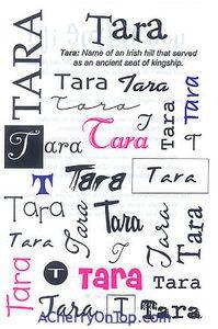 Tara - Irish name meaning Goddess of the sea.  Sanskrit name meaning shining or star.