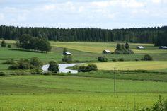 Landscape from Toholampi, Central Ostrobothnia province of Western Finland - Keski-Pohjanmaa