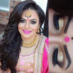 Indian engagement bridal makeup