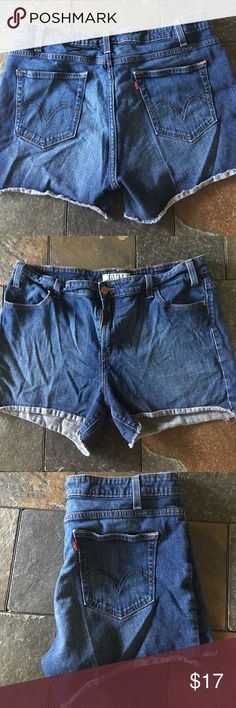 SALE Levi's red tab short shorts Levi's short shorts size 16. Slight stretch (contains 1% spandex).  With factory cut-off leg. Smoke free and pet free home. Levi's Shorts Jean Shorts