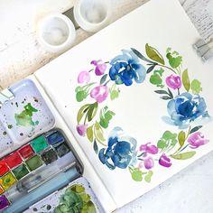 Watercolor watercolor floral florals DIY paint DIY painting gouache travel watercolor set