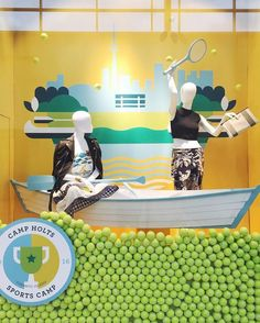 """HOLT RENFREW, Yorkdale Shopping Centre, Toronto, Canada, """"Summer is here and we are ready to play! Are you?', (Camp Holts-Sport Camp), pinned by Ton van der Veer"""