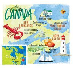 Nuova Scozia / Canada mappa per CSMA da Scott Jessop