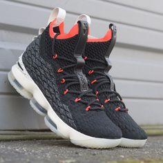 best website e07f3 e6a10 NIKE LEBRON 15 BLACK SAIL BRIGHT CRIMSON AQ2363 002  sneakerculture  kix   kickgame