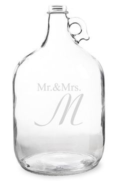 CATHY'S CONCEPTS 'Mr. & Mrs. - Wedding Wishes in a Bottle' Gallon Growler Guest Book available at #Nordstrom