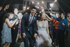 Sparkler Sendoff - Kansas City Wedding at 1890 shot by Kansas City Wedding Photographer Peter Yankowski