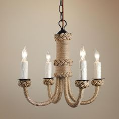 Wrap jute twine around one of those outdated brass chandaliers!