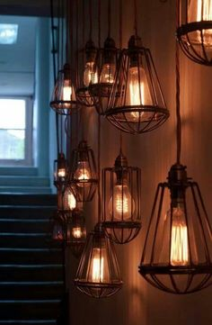 Antique inspired cage lights