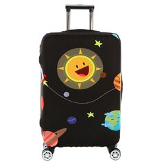 MOQ 1pc spandex suitcase covers elastic luggage covers