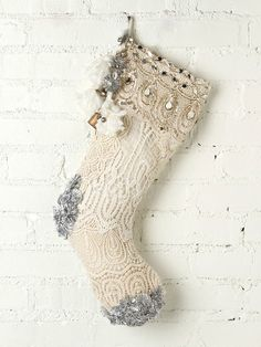 Free People FP ONE Tinsel and Lace Stocking, $68.00