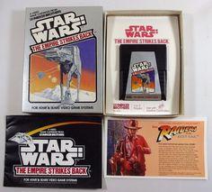 """ATARI 2600 GAME """"Star Wars: The Empire Strikes Back"""" CIB Manual, Game, Box"""