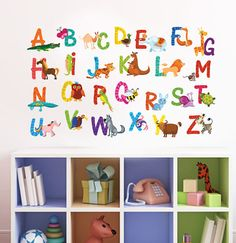 Alphabet Nursery Wall Decal  Playroom Wall Decal  by DecalSisters, $50.00