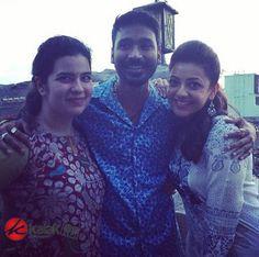 #Dhanush and #KajalAgarwal at #Maari Spot  More Stills @ http://kalakkalcinema.com/dhanush-kajal-agarwal-maari-spot/