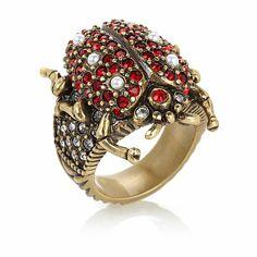 "Heidi Daus ""Lady's Choice"" Crystal Ladybug Ring"