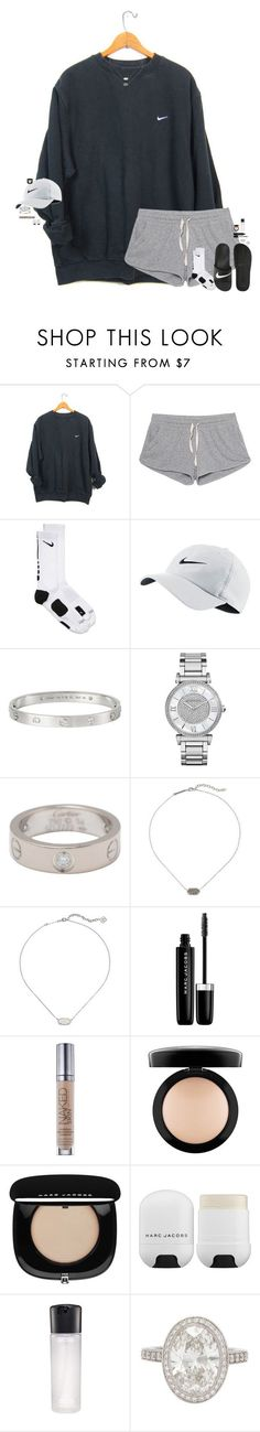 """""""lol no."""" by maggie-prep ❤ liked on Polyvore featuring NIKE, American Vintage, Cartier, Michael Kors, Kendra Scott, Marc Jacobs, Urban Decay, MAC Cosmetics and Tiffany & Co."""