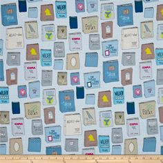 Literary Well Read from @fabricdotcom  Designed by Heather Givans for Windham Fabrics, this cotton print collection is just perfect for bookworms! From literary classics, to library cards, text prints, and shelves of books, there's a print for every book nerd. Perfect for quilting, apparel, and home decor projects. Colors include shades of blue, shades of grey, khaki, brown, pink, green, and white.
