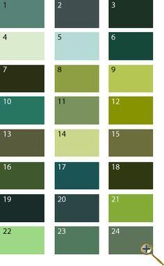 Зеленые оттенки для цветотипа лето