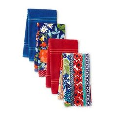Pioneer Woman Reversible Placemat with Pockets Fiona Floral Set of 4