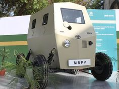 Electric Combat: Micro Bullet Proof Vehicle unveiled by Tata Motors - Ecofriend Strange Cars, Weird Cars, Cool Cars, Tata Motors, Offroader, Buggy, Unique Cars, Small Cars, Armored Vehicles
