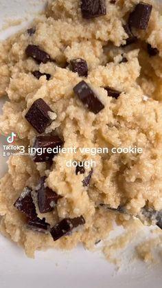 Vegan Sweets, Healthy Sweets, Healthy Dessert Recipes, Healthy Baking, Healthy Snacks, Vegan Recipes, Snack Recipes, Cooking Recipes, Desserts