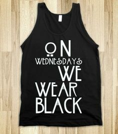 On wednesdays we wear black - Marauder's Tees - Skreened T-shirts, Organic Shirts, Hoodies, Kids Tees, Baby One-Pieces and Tote Bags