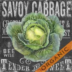 Chalk Veggie Cabbage by Geoff Allen Vintage Labels, Vintage Ads, Vintage Images, Vintage Prints, Chalkboard Designs, Chalkboard Art, Decoupage Vintage, Fruit Art, Chalk Art