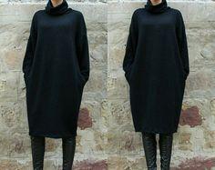 Grey Maxi Kleid Midi Kleid Plus Größe Kleid von cherryblossomsdress