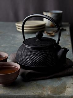Korin Japanese Trading - Black Arare Iron Tea Pot