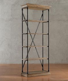 Could so easily build this.This Narrow Ardmore Bookcase is perfect! #zulilyfinds