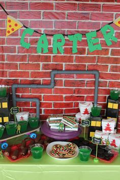 Awesome Teenage Mutant Ninja Turtles birthday party! See more party ideas at CatchMyParty.com!